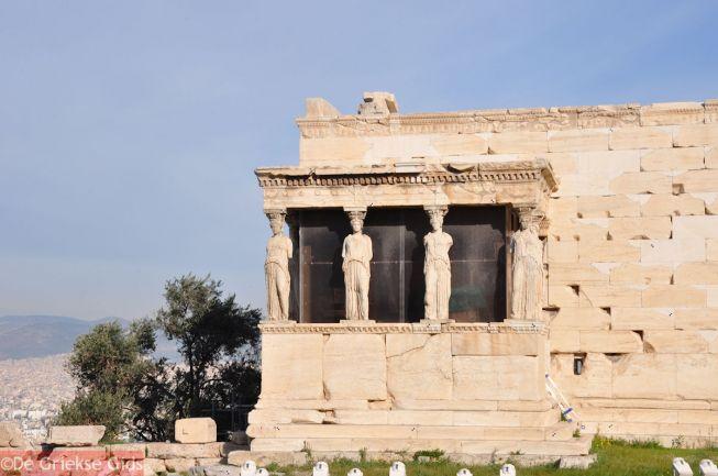 De Karyatidenhal van het Erechteion